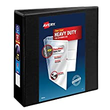 """Avery Heavy-Duty View Binder with 3"""" One Touch Rings, Black, Case Pack of 4 (79693)"""