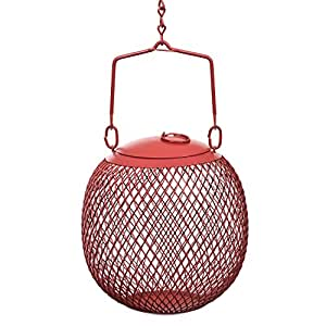 No/No RSB00343 Red Seed Ball Wild Bird Feeder