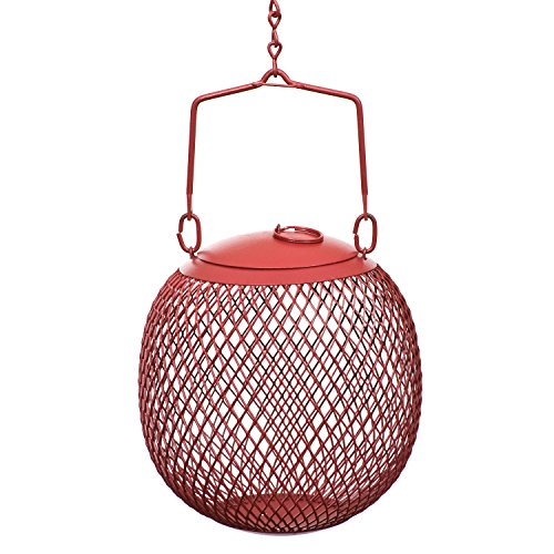 Perky-Pet RSB00343 Red Seed Ball Wild Bird Feeder - Cardinal Wood Feeder