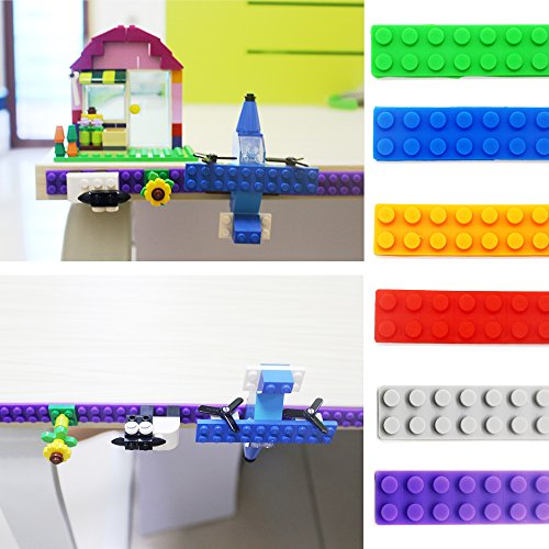 LattoGe Silicone Building Blocks Bricks Tape Stick Baseplate Plates for Lego Figures Table Construction Toys Walls Desks Kids Adults Birthday Supplies Room Art Decoration