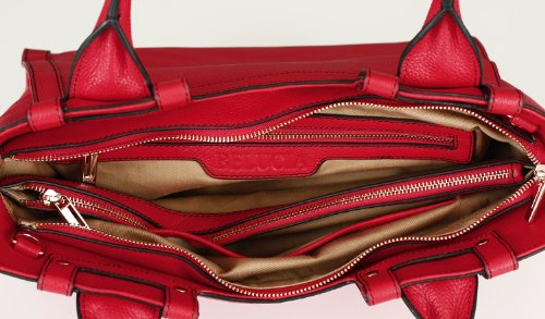 Tracolla Belcia Cicciano Extra Morbida Pelle Di Vitello Rosso Uvp 834 Euro Spedizione Gratuita