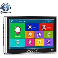 Xgody 826 Capacitive Touchscreen 7Inch 256RAM 8GB ROM SAT NAV Truck Lorry GPS Navigation System Bluetooth Navigator with FM US Lifetime Maps Update
