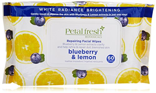 - Bio Creative Lab Pfb White Radiance Exfoliating Facial Cleansing Wipes, Blueberry and Lemon, 60 Count