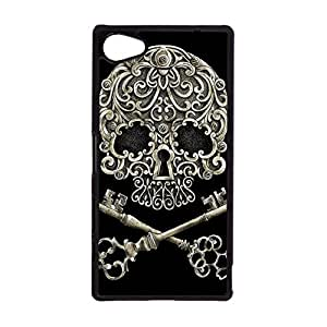 Sony Xperia Z5 Compact Case,Wonderful Skull Pattern Design Flexible Protective Case Cover for Sony Xperia Z5 Compact