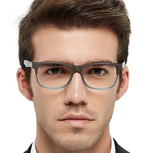 40c66099274 OCCI CHIARI Rectangular Stylish Acetate Frame Non-prescription Fashion  Clear Lens Eye Glasses Designer For