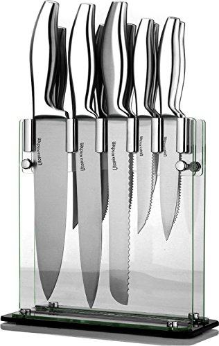 Kitchen Premium Class Stainless-Steel 12 Knife Set with Acrylic (Nigella Storage)