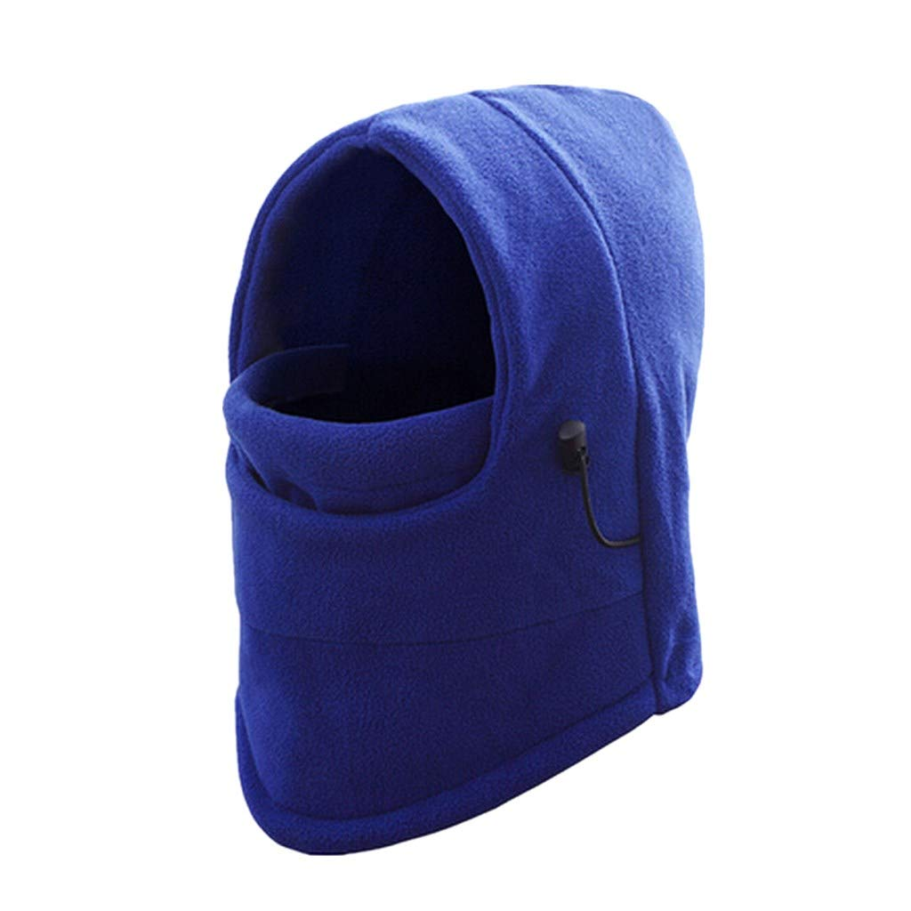 Laimeng_World Winter Fleece Scarf Neck Warmer Face Mask Skiing Cycling Hiking Mask (Blue)