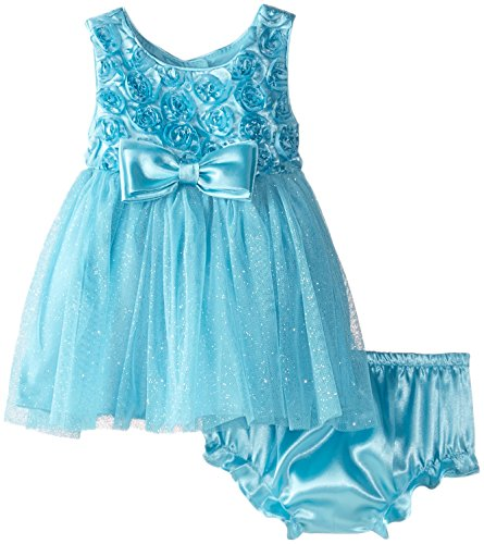 Sweet Heart Rose Baby Girls' Soutache Bodice Ballerina Dress, Blue, 0 3 Months Sweetheart Rose Baby Girl