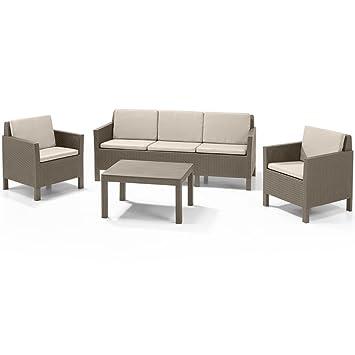 Allibert Gartensofa Set 14 Tlg. Sitzmöbel Gartenmöbel Sitzgruppe Lounge Sofa
