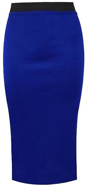 Falda de tubo larga para mujer de My Fashion Store, lisa y ...
