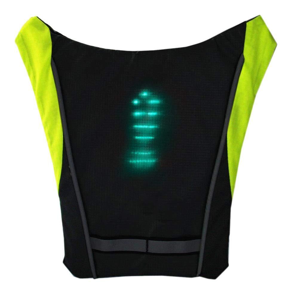 Reflektierendes Licht Sicherheitswarnung Richtung F/ür Nacht Radfahren Laufen Wandern Wandern DEQUATE LED Wireless Blinker , Weste Leitlicht