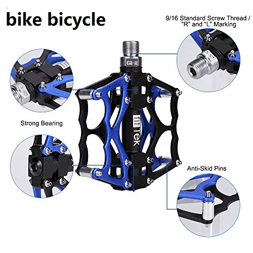 Bike Pedals,Bicycle Pedals,Pedals, fitTek Mountain Bikes Pedals,Mountain Bike Pedal Cycling Sealed Bearing Pedals