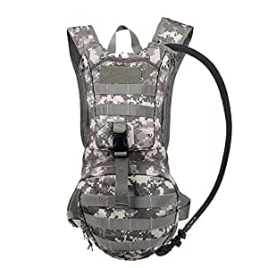 Tactical Hydration Pack Backpacks with 2.5L Bladder for Hiking, Biking, Running, Walking and Climbing (ACU)