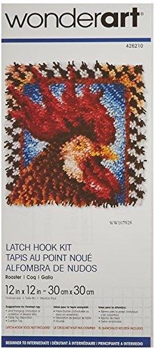 Wonderart Rooster Latch Hook Kit, 12