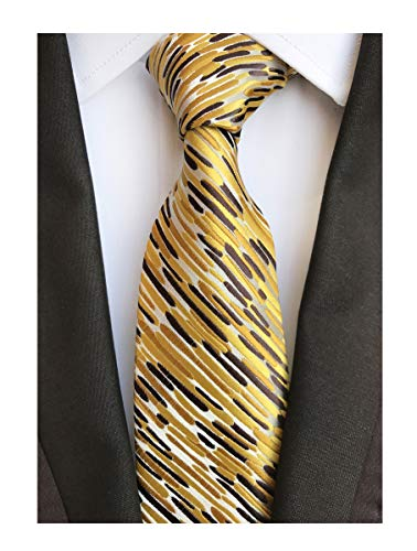 Men's Glod Brown Neckties Silk Tie For Men Suit Fitness Dating Fashion New Style -