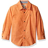 Calvin Klein Boys' Slub Chambray Long Sleeve Shirt