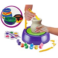 MKE Elektra Deeti Plastic Pottery Wheel Game Educational Toy (Multicolour, 8 Years and Up)