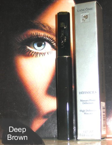 LANCOME DEFINICILS Mascara HIGH DEFINITION 0.23 Oz, DEEP BROWN (same as BLACK, UNUSUAL (2 Lancome Color Design)