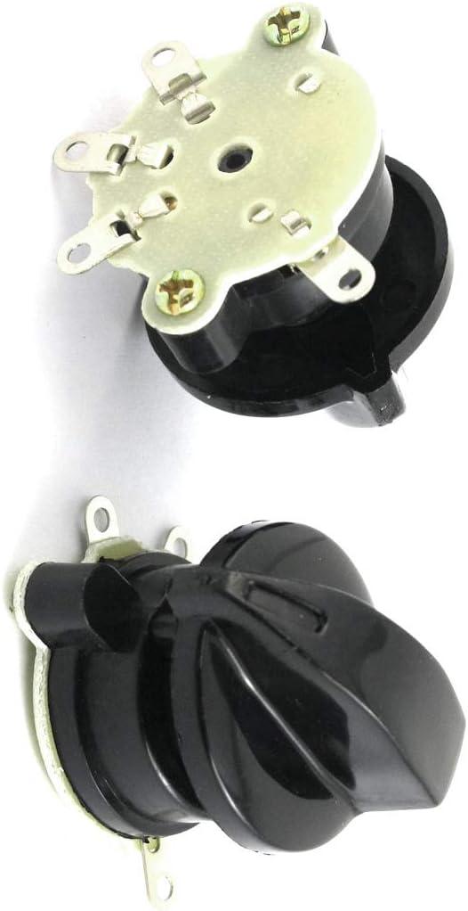 Aexit 2 piezas de control del ventilador de enganche 4 posiciones Interruptor selector giratorio (model: S5312XIII-1493TX) AC 250V 4A