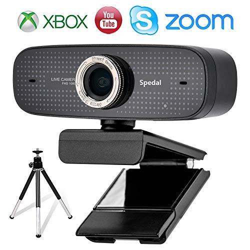 🥇 Spedal Cámara Web con trípode Full HD 1080P Webcam OBS Live Streaming Web Camera Xbox Youtube Computer cámara para Skype Facebook y Twitch
