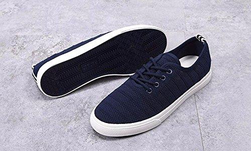 Los Verano KPHY Zapatos Estudiante Junta De Zapatos Ayuda Zapatos Tela Plano blue Poca De Macho Transpirable Ocio Malla Fondo gvdqwnfxrg