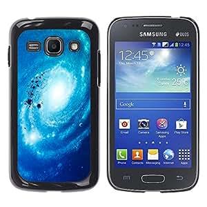 Spiraling Las Nubes - Metal de aluminio y de plástico duro Caja del teléfono - Negro - Samsung Galaxy Ace 3