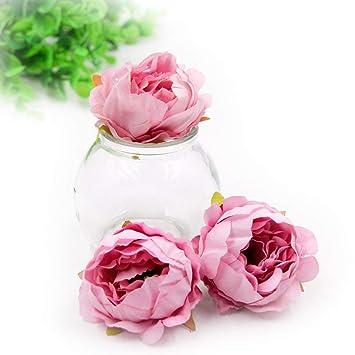 Amazon.com: Falso cabezas de flores artificiales flores de ...