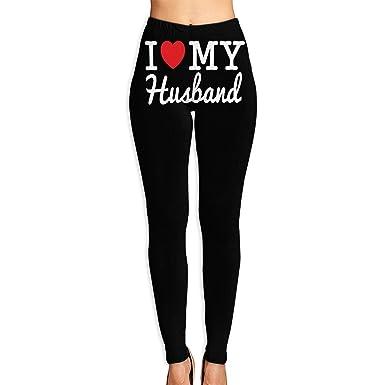 c13a958b7241f Amazon.com: Womens Yoga Pants I Love My Husband-1 Perfect Yoga Leggings:  Clothing