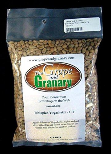 Ethiopian Yirgacheffe unroasted Coffee Beans (1LB)