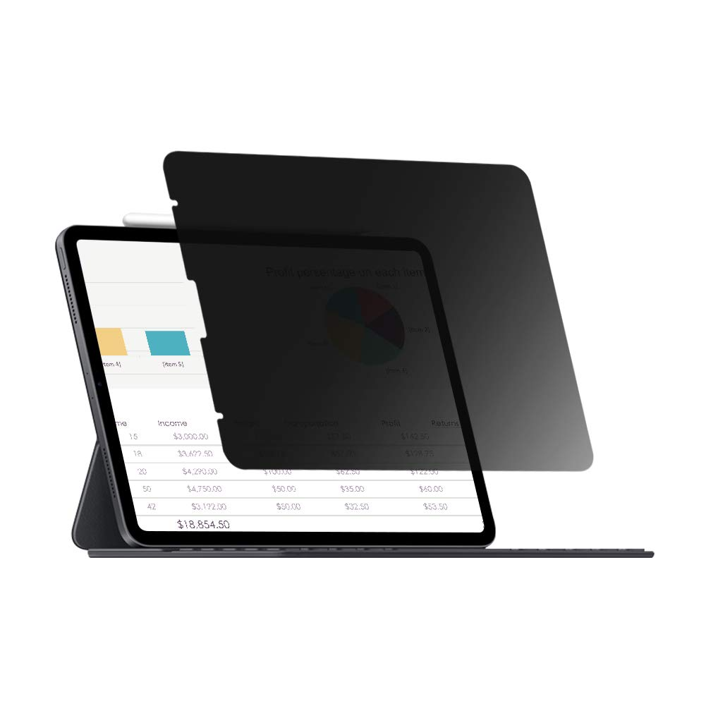 for New iPad Pro 11 Privacy Screen Protector [Landscape Privacy] [Compatible with Apple Pencil] [ Anti-Glare] Excellent Sensibility