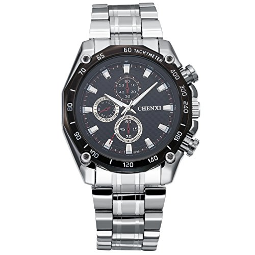 Men's Watches Classic Steel Band Quartz Analog Wrist Watch ...