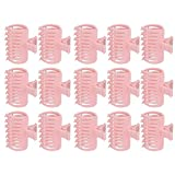 Qiterr 15Pcs/Set Hair Curler Clip, Curler Clip Hair Roller Fixing Clamp Holding Section Claw Hairdressing