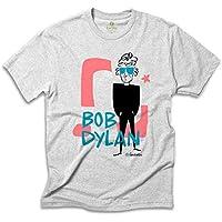 Camiseta Música Cool Tees Quadrinhos Caco Galhardo Bob Dylan