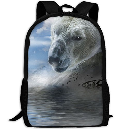 CY-STORE The Polar Bear Animal Of Snow Outdoor Shoulders Bag Fabric Backpack Multipurpose Daypacks For Adult by CY-STORE