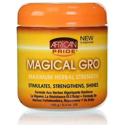 African Pride Hair Oil - African Pride Maximum Herbal Gro, 5.3 oz (Pack of 6)
