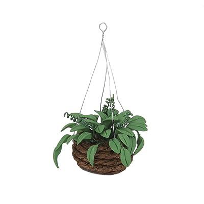 1/12 Planta Artificial Colgante en Miniatura Decoración para Casa de Muñecas Jardín: Juguetes y juegos