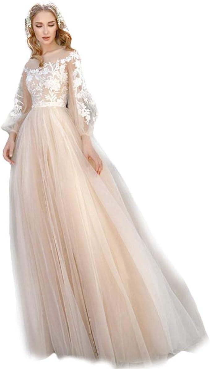 HYC Brautkleid, Boho Spitze, Landhaus-Hochzeitskleid, maßgefertigt