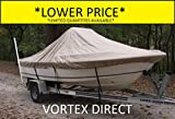 "VORTEX HEAVY DUTY TAN / BEIGE CENTER CONSOLE BOAT COVER FOR 17'7"" - 18'6"" BOAT (FAST SHIPPING - 1 TO 4 BUSINESS DAY DELIVERY)"