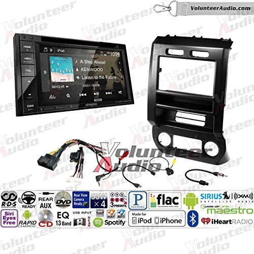 Volunteer Audio Kenwood Ddx276bt Double Din Radio Install Kit With Bluetooth Sirius Xm Ready Touchscreen Fits 2015 2016 Ford F 150 2017 Ford F 250
