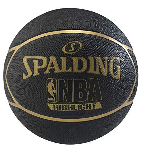 Spalding Fast S Highlight Basketball Size 7  Black/Gold