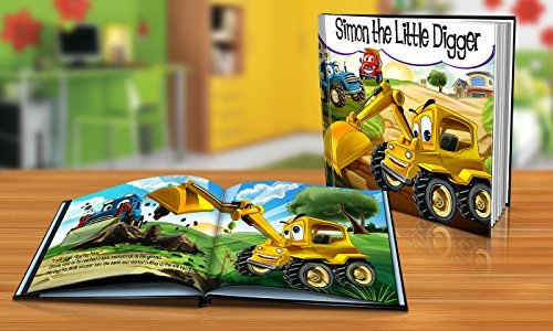 Personalized Story Book by Dinkleboo -The Little Digger Story - Teaches Your Child About Teamwork - For Children Aged 0 to 8 Years Old - Soft Cover - Smooth, Glossy Finish (8