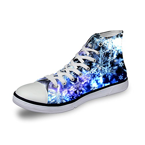 FOR U DESIGNS Stylish Women Shoes colorful High Top Casual Canvas Shoes For Girls Non-Slip Pattern-1 Xqozr2