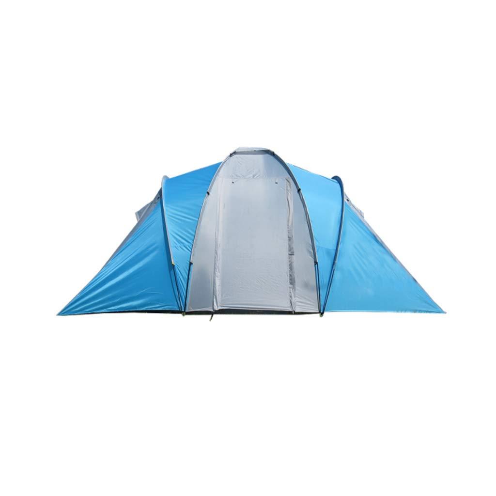 Camping Outdoor Zelte Outdoor-Zelt Camping Wandern Camping Zelt Doppelzelt Doppel-Regensturm DREI Jahreszeiten Zelt Wasserdicht Sonnencreme Zelt ++ (Farbe   Blau)