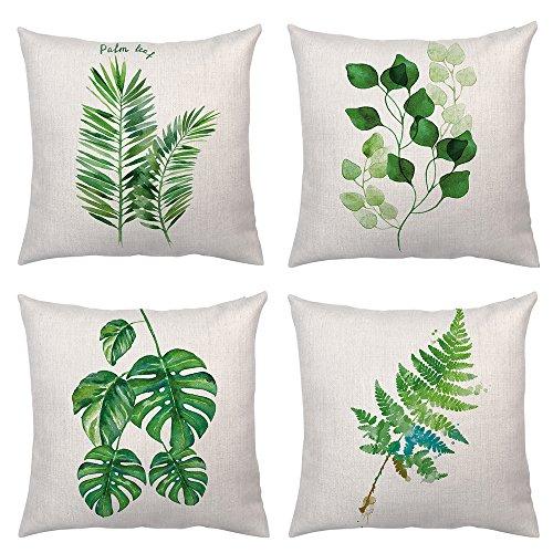 Set of 4Pcs Throw Pillow Covers Tropical