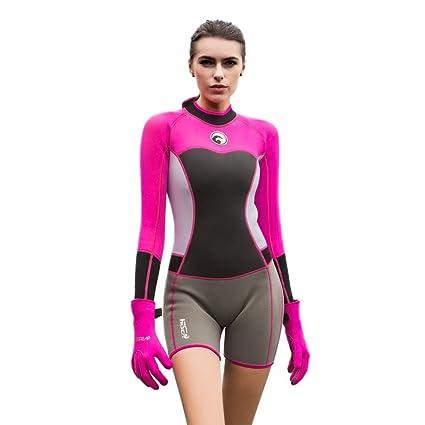 Image Unavailable. Image not available for. Color  Zerorun Women s Shorty  Wetsuit Long Sleeve ... c8d2b25bb