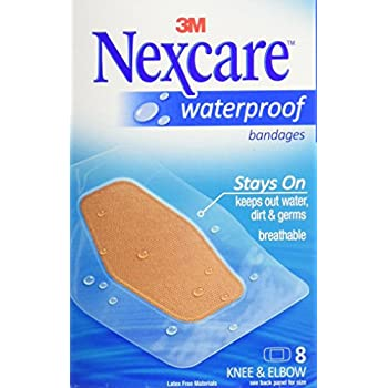 Nexcare Waterproof Bandage, Knee and Elbow, 3 Count