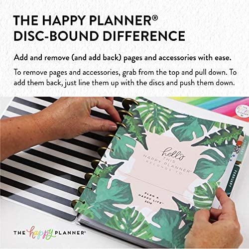 me & my BIG ideas The Happy Planner Box Kit - Sweat Smile Repeat Theme - 12 Month Undated - Vertical Layout - 5 Sheets of Stickers, 1 Pen, 1 Magnetic Bookmark, 4 Sticky Note Pads - Classic Size 6