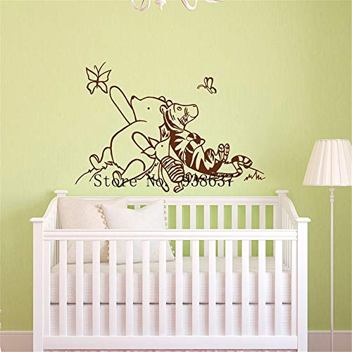 Motivational Saying Lettering Art Winnie The Pooh Wall Decals Nursery Classic Winnie The Pooh Piglet Tigger Wall Decal Kids Baby Room Nursery Pooh Bear Kid Bedroom