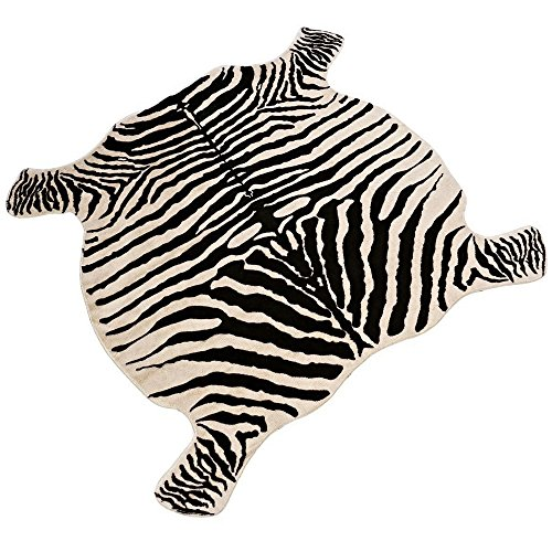 DGou Zebra Area Faux Rug Zebra Print Rug 4.4x4.9 Feet, used for sale  Delivered anywhere in USA