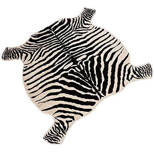 Area Faux Rug Zebra Print Rug 4.4x4.9 Feet Carpets For Home. (Zebra)